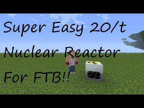 [FTB] Super Easy 20EU/t Nuclear Reactor FTB Setup!