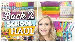 MASSIVE Back to School supplies HAUL 2017   Dollar Tree, Walmart, Target & Costco   The Family Fudge