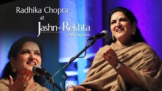 Aapki Yaad Aati Rahi Raat Bhar | Radhika Chopra | Jashn-e-Rekhta 2015