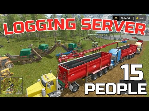 FARMING SIMULATOR 2017 | 15 PERSON LOGGING CREW | MULTIPLAYER | HUGE SERVER