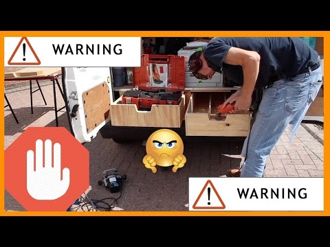 Under floor Plywood Van/Truck Storage boxes.  [Haters Warning - expensive tools used!}