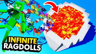 NEW Throwing MILLIONS OF RAGDOLLS Into ETERNAL PIT (Fun With Ragdolls: The Game Funny Gameplay)