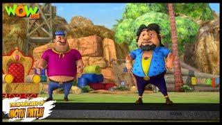 Motu Patlu New Episode | Cartoons | Kids TV Shows | John Ki Running Road | Wow Kidz