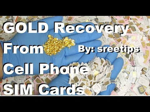Gold Recovery From Cell Phone SIM Cards COMPLETE PROCESS