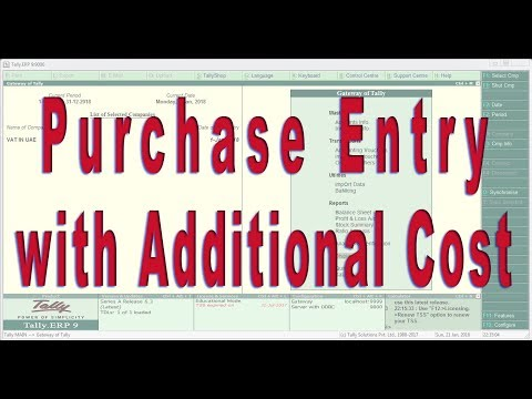 How to allocate additional cost to items at the time of Purchase in Tally ERP.9