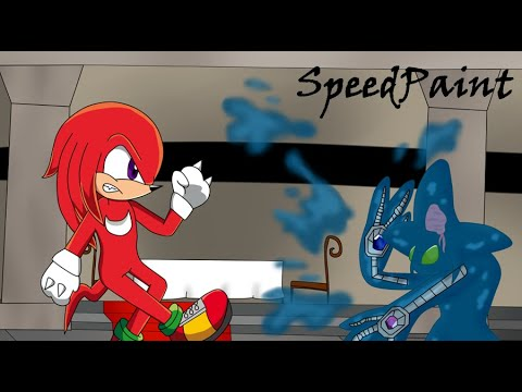 SpeedPaint - Knuckles vs Chaos 2