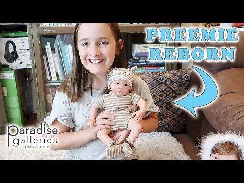Reborn Baby Doll Unboxing Madison Gets a LIFELIKE Reborn Preemie BABY Doll Hoot Hoot