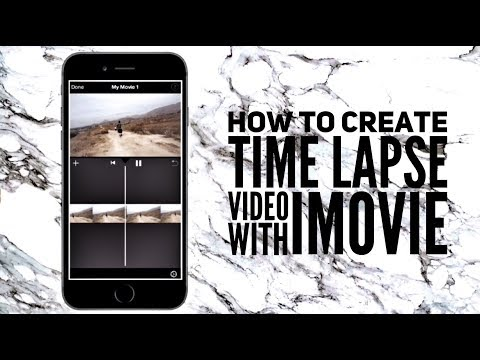 IPHONE/IPAD EDITING | HOW TO TIME LAPSE VIDEO WITH iMOVIE
