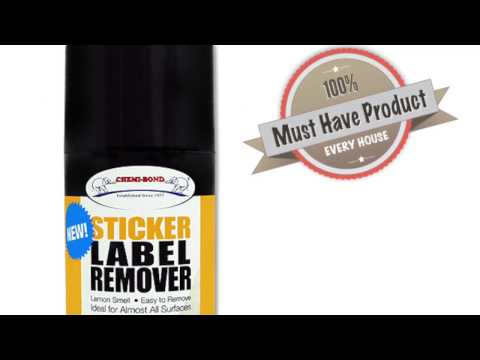 CHEMIBOND Sticker Label Remover-How to use(glass, ceramic, plastic, stainless steel, metal and more)