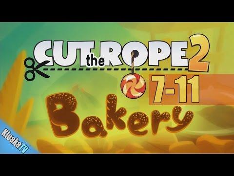 Cut The Rope 2 - Level 7-11 Bakery Walkthrough (3 Stars)