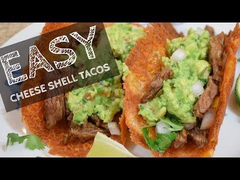 EASY Crispy Cheese Shell Tacos