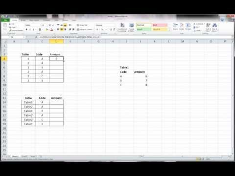 Excel - Vlookup Multiple Tables using Choose function (part 1)