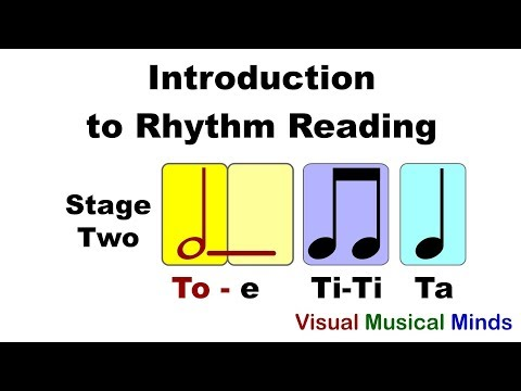 Intro to Reading Rhythms: Stage Two- Quarter, Half, and Eighth Notes