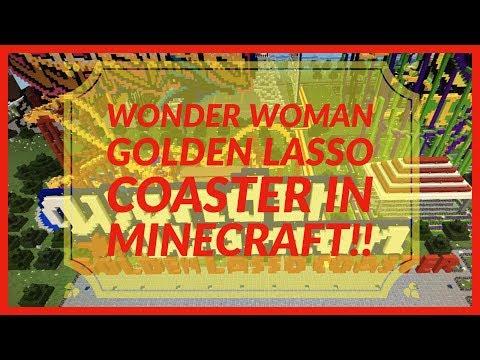 Wonder Women Golden Lasso Coaster in MINECRAFT!!