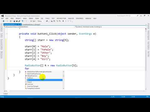 How to Create RadioButton from String Array Using C# NET 2012