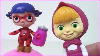 Download Маша как Мама ЛЕДИ БАГ Кукла ЛОЛ купается Мультики с игрушками для детей Video