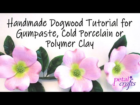 Making a Dogwood Flower in gumpaste - Petal Crafts