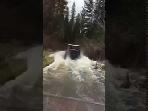 RZR 900S RIDING THRU RIVER WATER CAN AM COMMANDER RANGER RHINO TURBO
