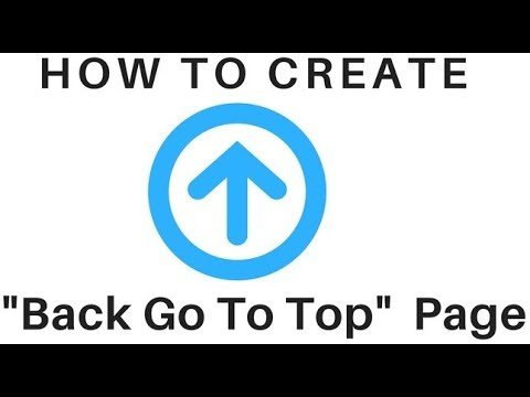 Create A Scroll Back To Top Page Arrow Button With CSS and Jquery