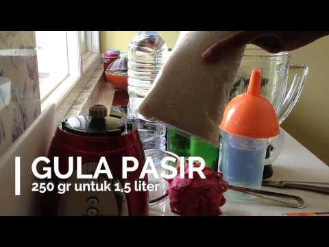 How to make Dragon fruit Wine ( Easy ) , subtitle Bahasa Indonesia.
