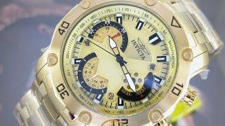 7aab80253f1 04 37 · Relógio Invicta pro diver 22761 Plaque Ouro ...