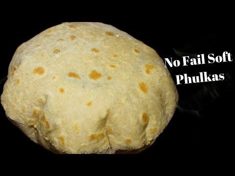 How to make Soft Phulka   Soft Chapati Recipe   Round Roti Restaurant Style