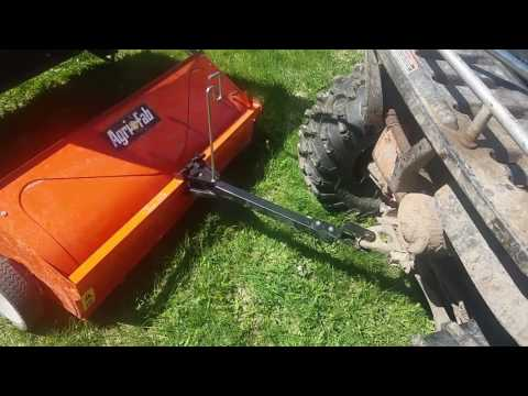 how the agri fab lawn sweeper works