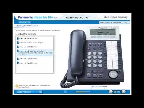 Basic Set Up of Your Panasonic KX-NT343/KX-DT343 VoIP or Digital Phone