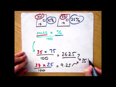 GCSE Chemistry 1-9: How to calculate the Relative Atomic Mass of an Isotope