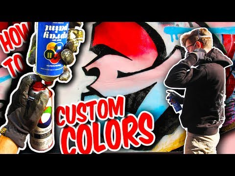 How To Mix CUSTOM Spray Paint Colors