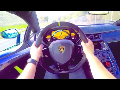 Aventador SV CRAZY POV Drive!
