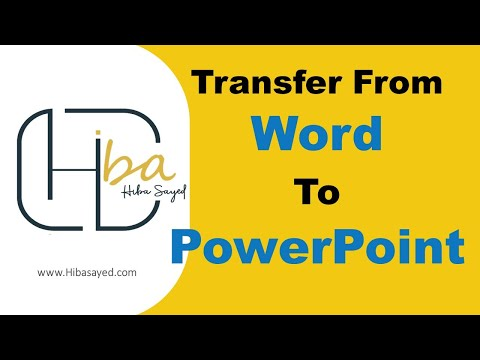 How To Transfer from Word to PowerPoint 2010?
