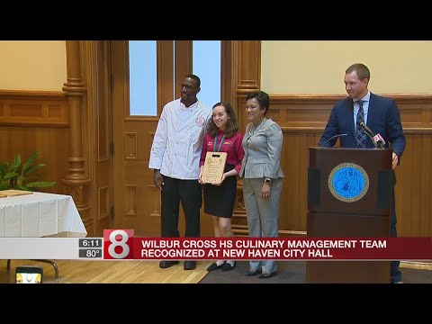 City of New Haven honors school's restaurant management team