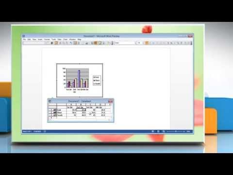 Make Graph in Microsoft® Word 2013 Document
