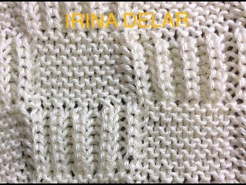 Baby blanket knit pattern.  Узор спицами детского одеяла.