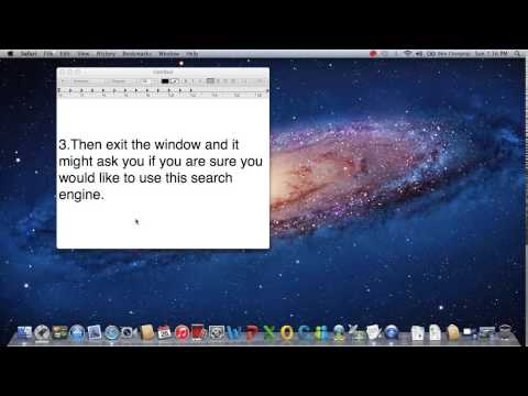 How to change your safari search engine on your Mac PC