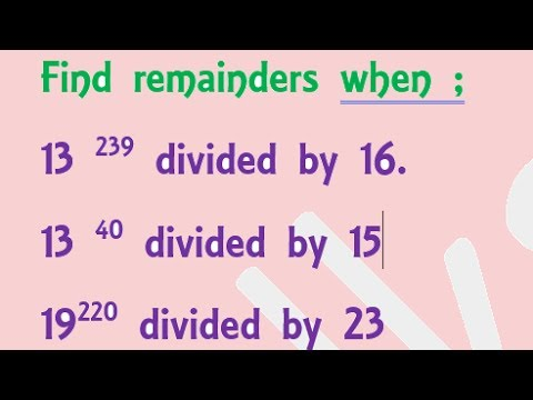 Problems on remainders p-1 Number system tricks for SSC CGL, CAT