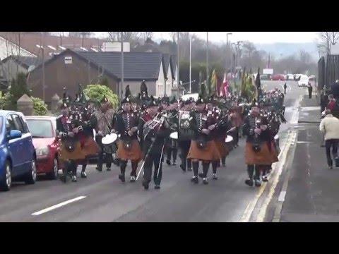 Royal Irish Regiment Pipe Band @ Ballymena Rememberance Parade 2016