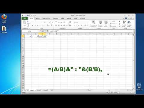 How to Calculate the Ratio in Excel