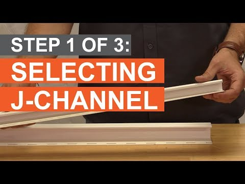 How to Trim a Window: Select Your J-Channel (Part 1 of 3)