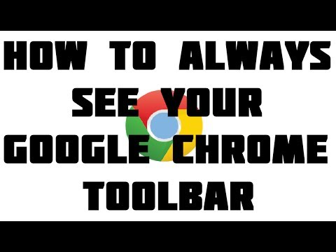 How to Always See Your Google Chrome Bookmarks / Favorites Bar