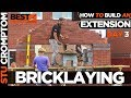 how to build a brick extension on a house day 3