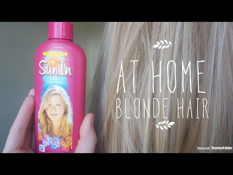 HOW TO GET BLONDE HAIR AT HOME - UNDER $5