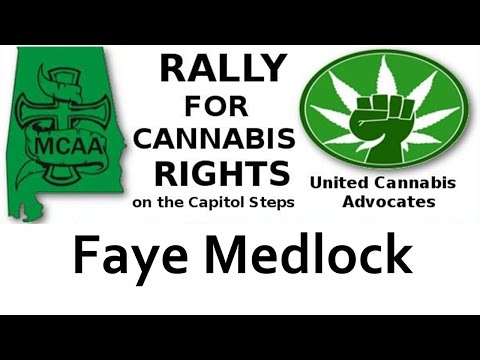 Faye Medlock speaks at the rally for Cannabis Rights September 8, 2016