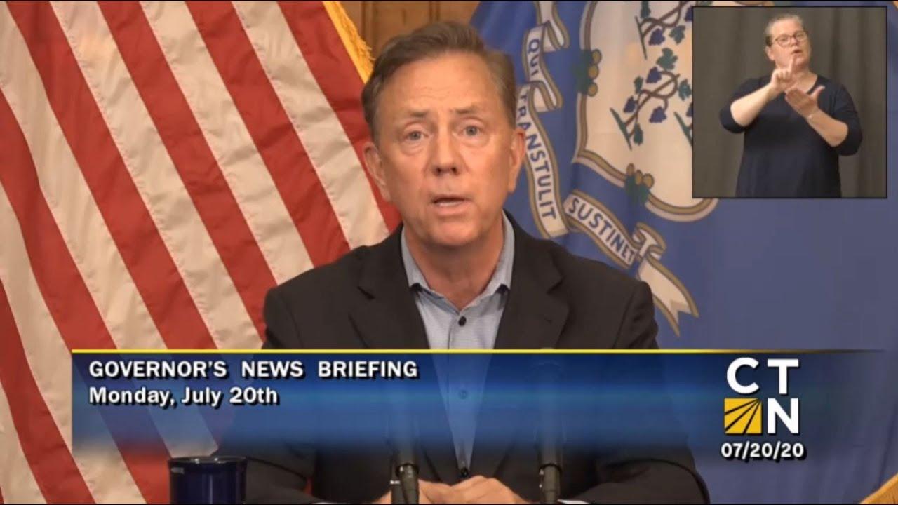 Governor Lamont's July 20, 2020 4PM Coronavirus Update