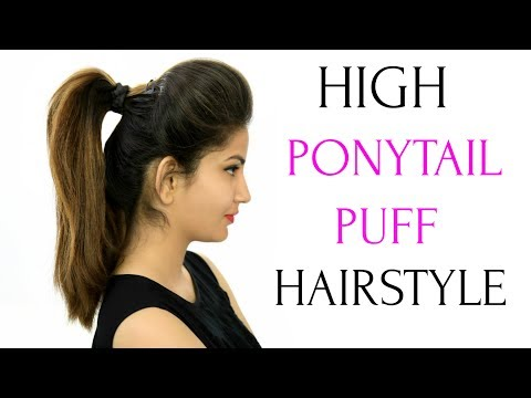 High Ponytail With Puff Hairstyle & 5 More Everyday Heatless Hairstyles | ANAYSA