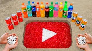 YouTube Logo in the Hole with Orbeez, Coca Cola, Mentos \u0026 Popular Sodas