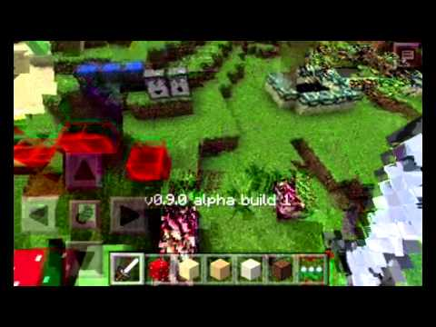Minecraft pe 0.9.0 portal in Nether