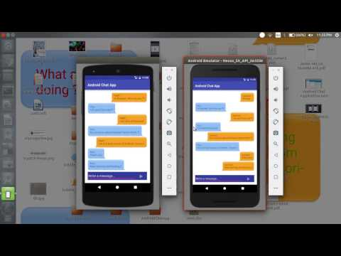 Real Time Android Chat Application using Firebase Tutorial (demo)
