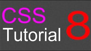 CSS Layout Tutorial - 08 - Add effects to the Image sidebar